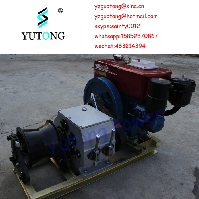 Best-selling 3T powered diesel engine shaft driven mining industry hoist winch