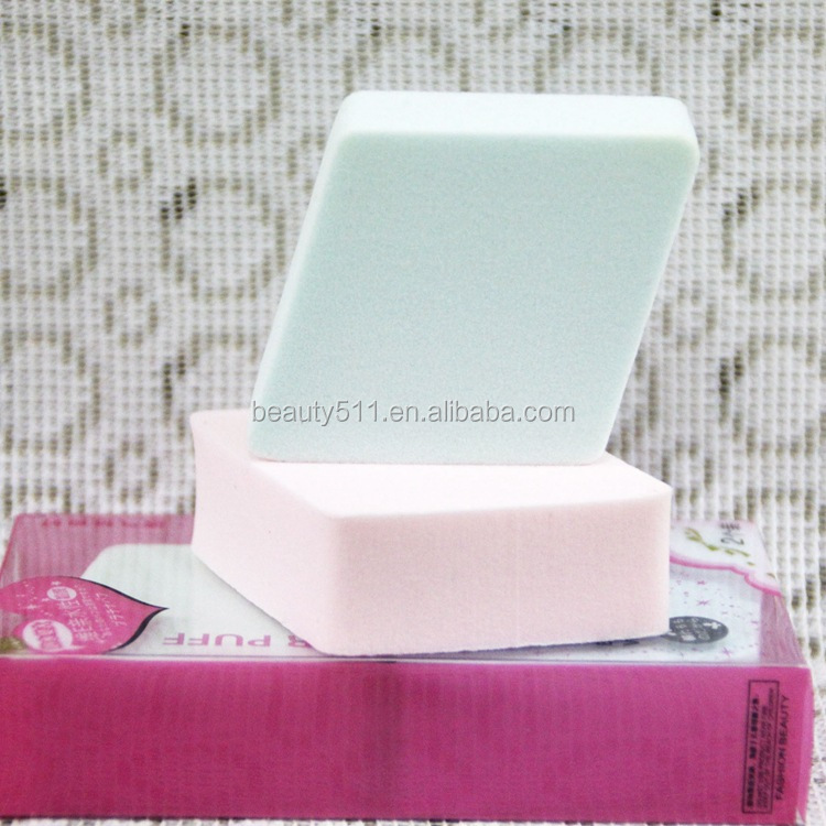 Wholesale High quality 2pc Hydrophily Diamond Cosmetic powder puff