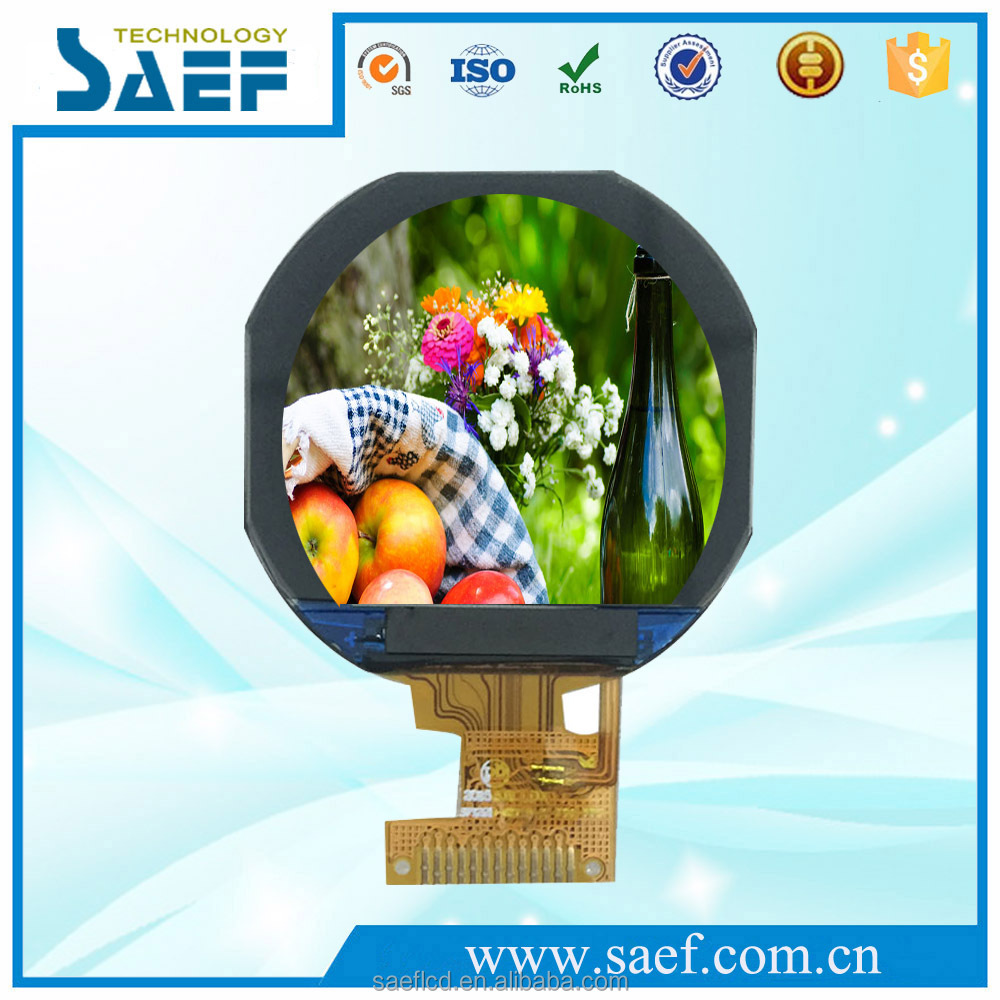 IPS 1.22 inch circular lcd screen round lcd with touch screen with spi interface