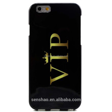 Hot selling phone accessory Crown VIP Glossy Hard Case Accessory, IML TPU Phone Cover For iPhone 6
