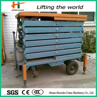 Four wheels crank lifting machine for sale