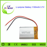 803040 3.7v 1100mah li polymer battery rechargeable for GPS