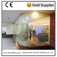 White Self-adhesive PDLC Smart film, stick on the existing glass