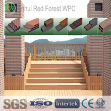 anti-slip recycle timber composite solid decking projects
