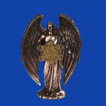 Angel Judaism Bronze Color Statue Decorative Religious Figurine