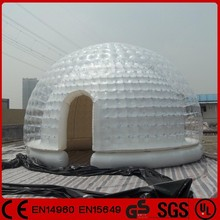 Attractive price GTIT-104 PVC outdoor igloo inflatable clear tent