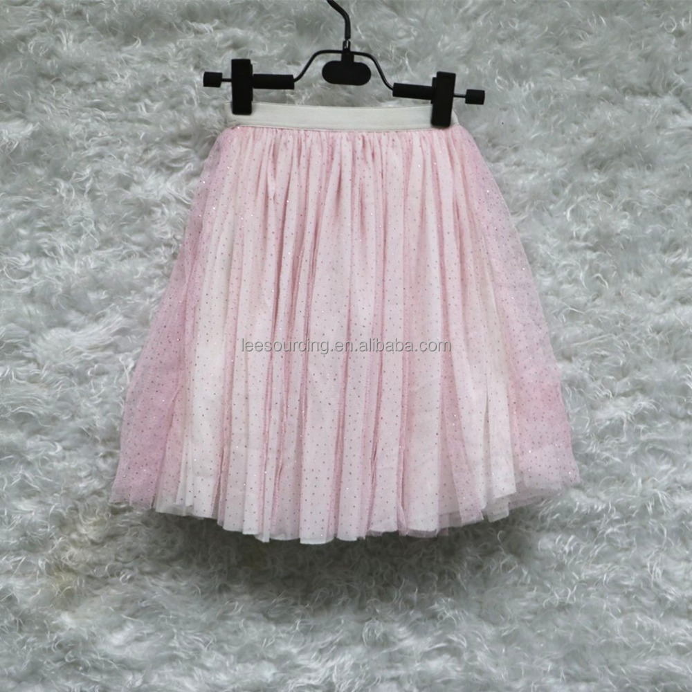 2016 summer beauty girl pink elastic lace tulle skirt tutu dress girl long skirt