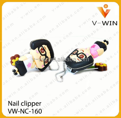 wholesale good quality colorful plastic nail clipper,cartoon cute nail clipper