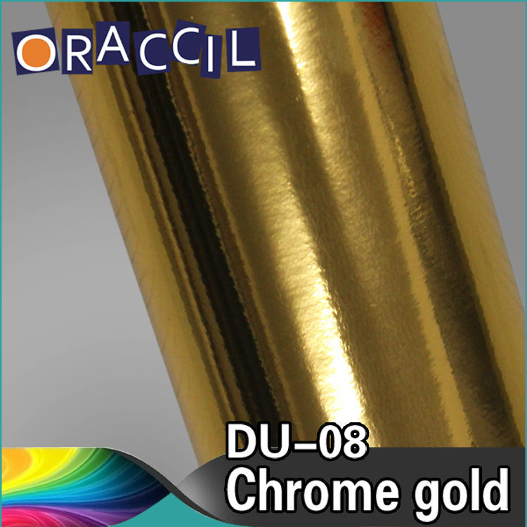 ROHS Certificate Good Quality 1.52x30m air free bubbles 3layer gold Mirror Chrome Car sticker film Wrap Vinyl