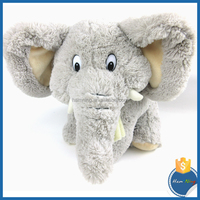 Big ears giant sitting elephant animal overseas toy in plush material grey color