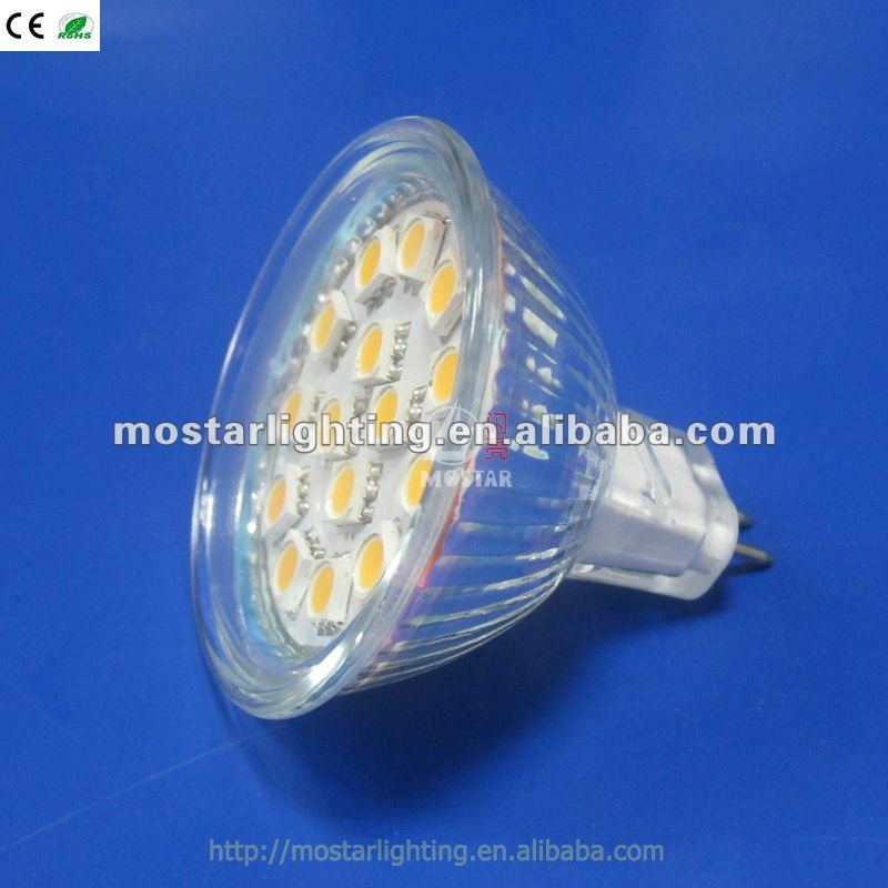 CE Rohs 24V MR16/GU5.3 15 SMD 2.8W LED kitchen ventilator lamp