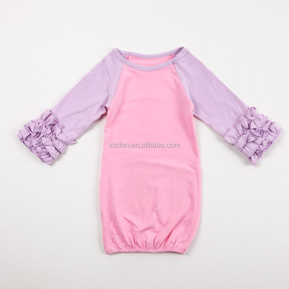 Infant baby ruffle Valentines Day gown dress Pajamas soft cotton baby sleep gown pictures for children gown