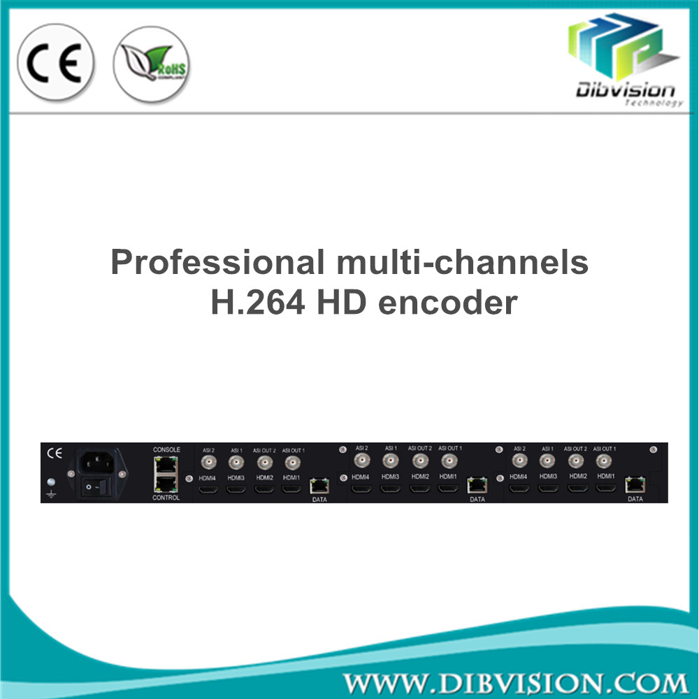 Broadcast and IPTV Streaming Encoder Multiplexer 72 programs out hdmi encoder h.264