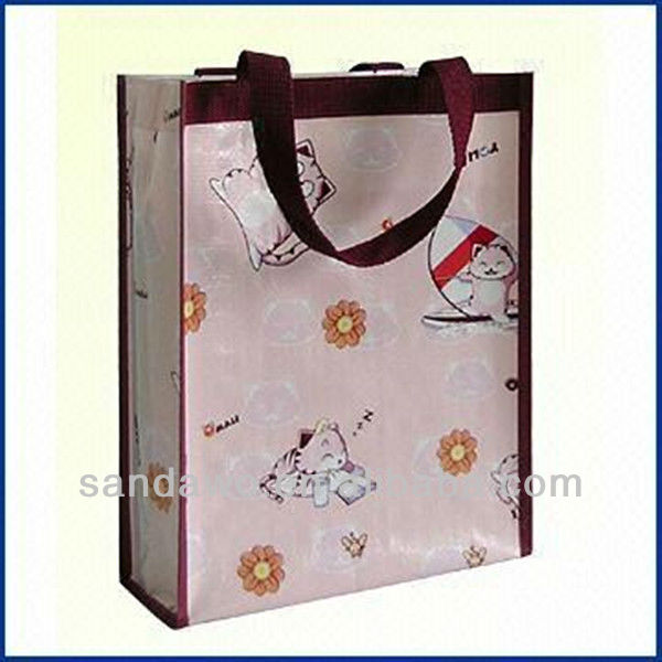PP Woven shopping bags with zipper (W801013)