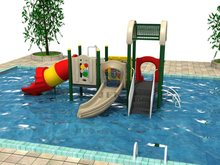 Classic child pvc water park slide