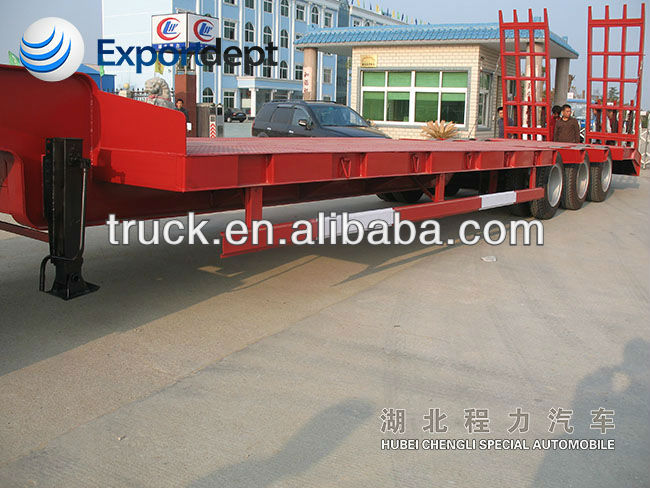 Low bed Semi-trailer, long length Semi trailer, Heavey Container semi-trailer