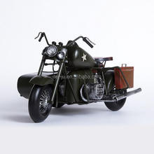 Mini Table Hobbies Motorbike Sidecar Model Decoration