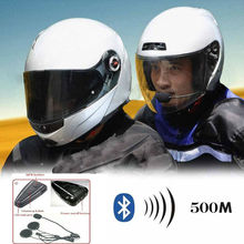 Motorcycle Helmet Bluetooth intercom 500m full duplex Bluetooth intercom headset/earpiece D6