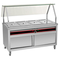 BN-B02 Stainless Steel Electric Bain Marie With Curved Glass Shelf