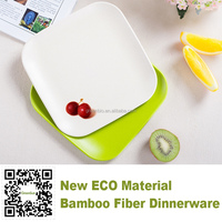 loyal new bamboo fiber eco friendly BIO dinnerware party plate, disposable bamboo fibre plate for kids