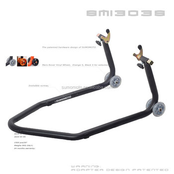 Brand New Steel Motorcycle Rear Stand with Black Screw Square Tube L or V Shape Hardware SMI3035 Paddock Stand motorcycle access