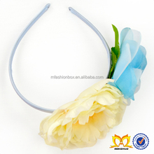 Wholesale Baby Girls Beautiful Cream Flower Accessories For Children Stylish Crystal Diamonds Hairbands