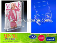 Advertising Brochure More Tiers Plastic Display Stand Holder