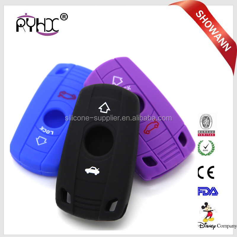 Environmental-friendly food-grade non-toxic silicone car key covers with high quality For BMW