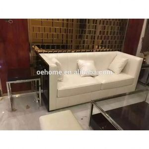 Factory direct supply high quality general used and hotel used furniture  living room Italian style leather sofa