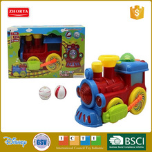 Zhorya fantasy funny ball plastic B/O train toys with sound musical & 3D light for kids