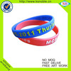 New arrival embossed with printing cheap silicone wristband bracelet