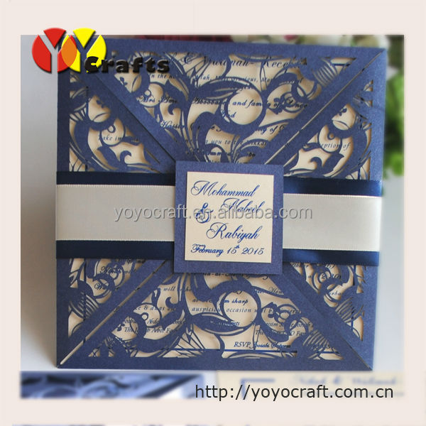 inc038 creative design four folds ivory lace wedding invitations