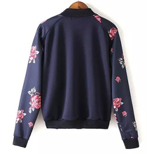 EY0483C New women jacket coat winter warm clothes flower jacket beautiful print basketball jackets coat