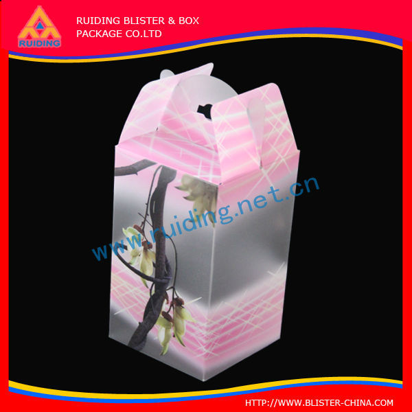 folding small transparent PVC packaging Plastic Box for electronic luggage scale