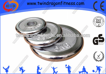 Chrome Surface Cast Iron Weight plate / dumbbell sheet/chrome discs