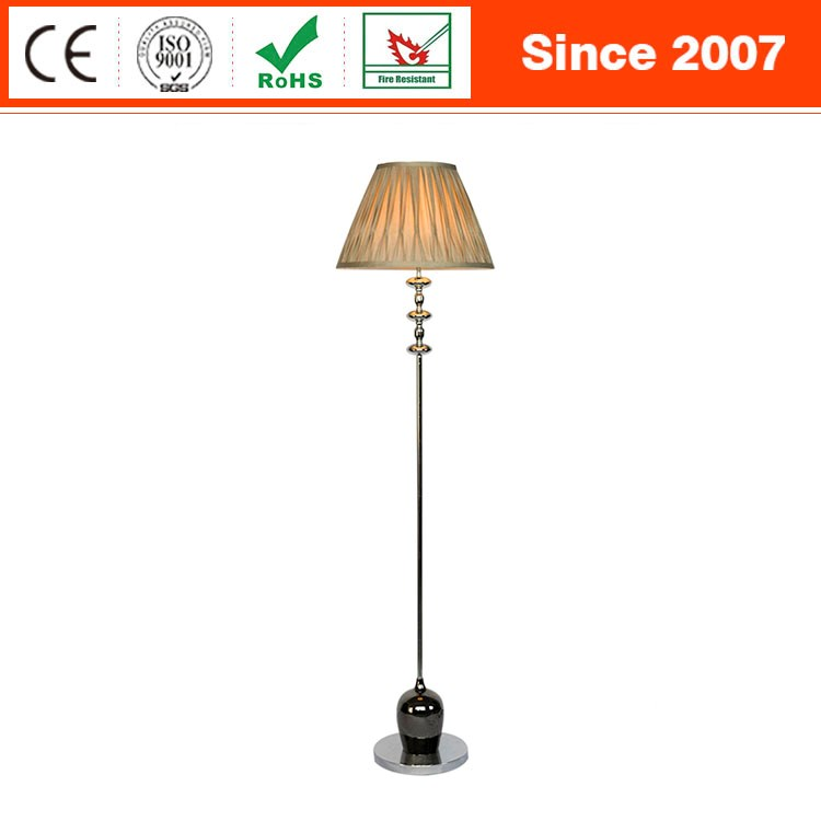 Brand new classic design chrome finish with pleated shade floor lamp