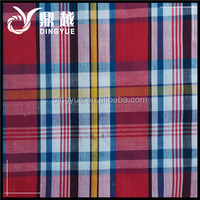 Pink Blue Red Color 100% Cotton White Stripe Check Fabric For Shirt