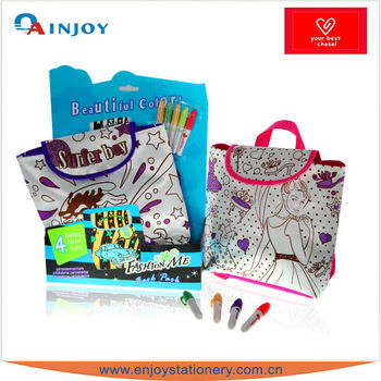 diy kid bag wiht pen