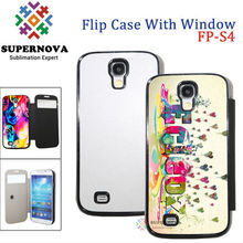 Dye Sublimation Blanks | Full Size Printable Leather Phone Case for Samsung Galaxy S4