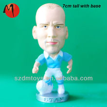 plastic football player figures/plastic model figure football
