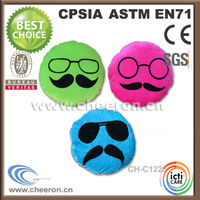 Wholesale pet toys supplier of plush football player toys with glasses and beard