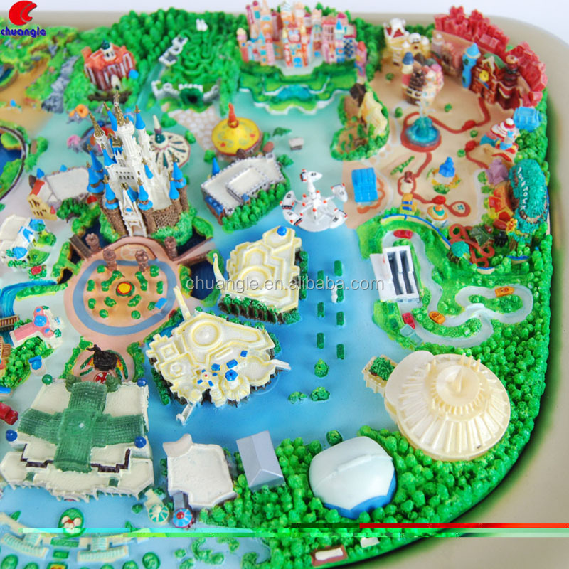 Amusement Park Souvenir Gifts Make Custom Building Model Crafts