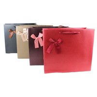 cheap factory fancy glass wholesale wine paper bag with bow