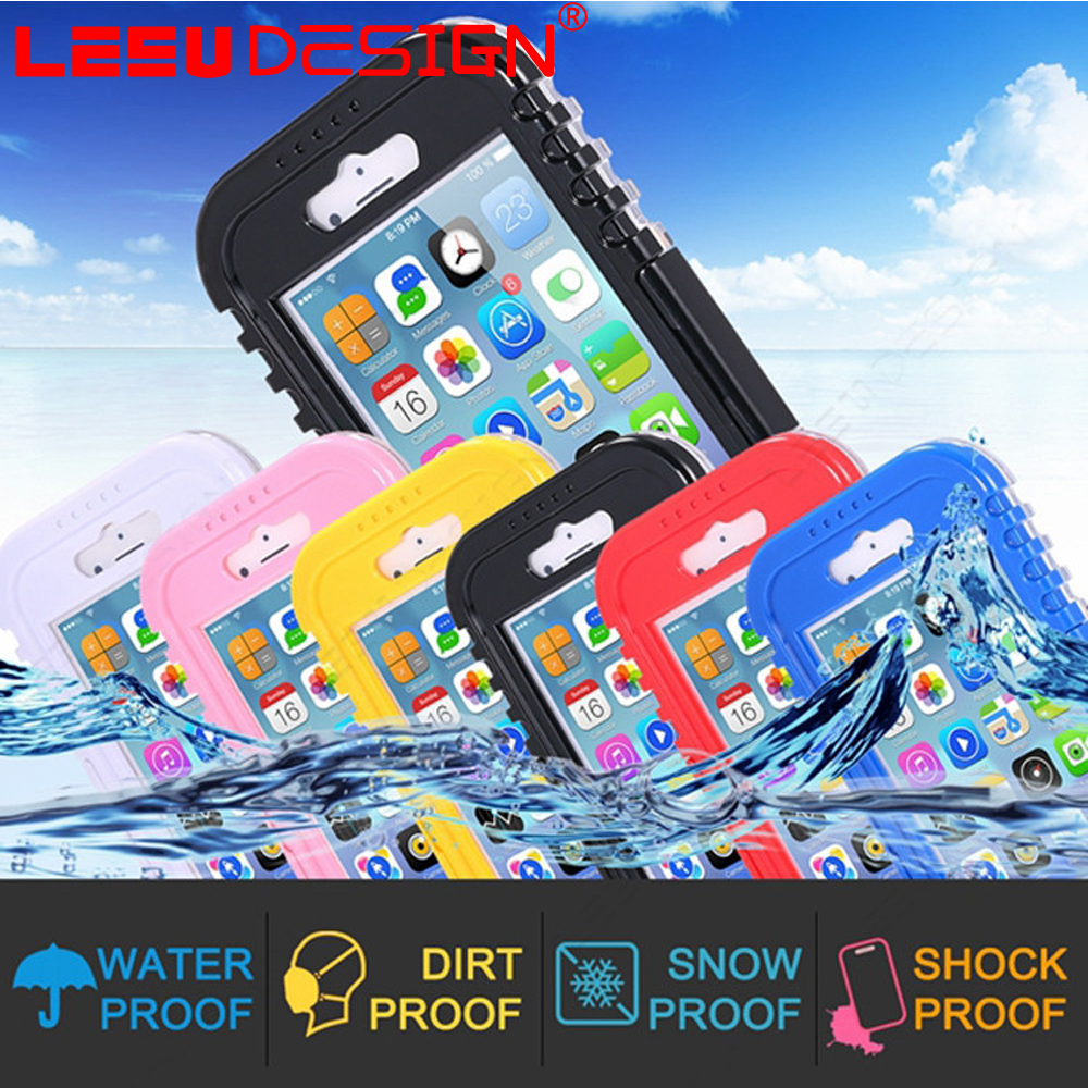 High quality shockproof dirtproof smartphone plastic waterproof case for iphone 6