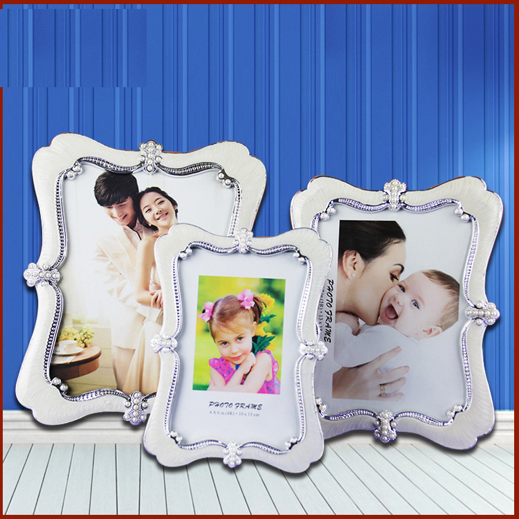 Classical Europe Style Fancy Resin Pearl Photo frame wedding decoration wedding gift Factory Direct Sale