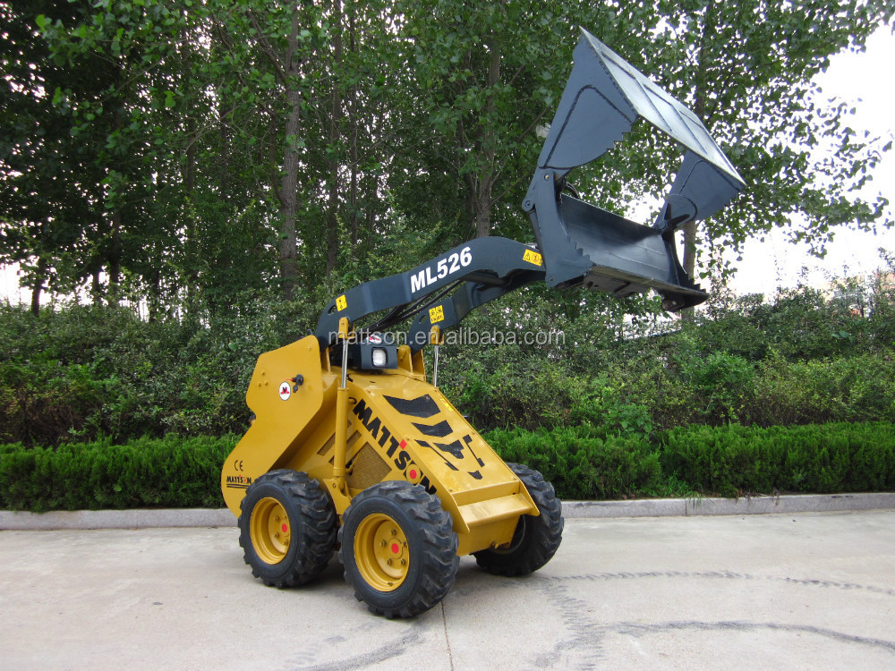 Chinese cheap ML525 mini skid steers loader with kubota engine hydraulic hammer