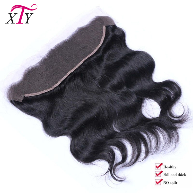 Wholesale Malaysian Human Hair Natural Color Lace Frontal With Bundles Body Wave 13x4 Lace Frontal With Baby Hair