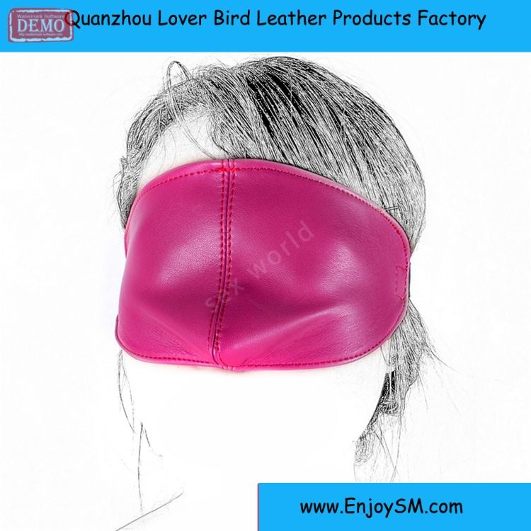 Soft PU Leather Rose Red Sex Mask Blindfold,Sexy Eye Mask Bondage Sex Aids,Fetish Restraints Sex Toys Sex Products For Woman