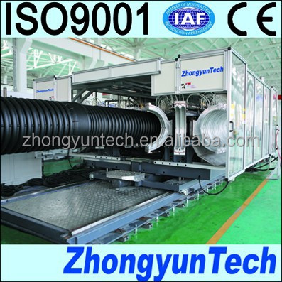 corrugated pipe machine with zhongyun technology