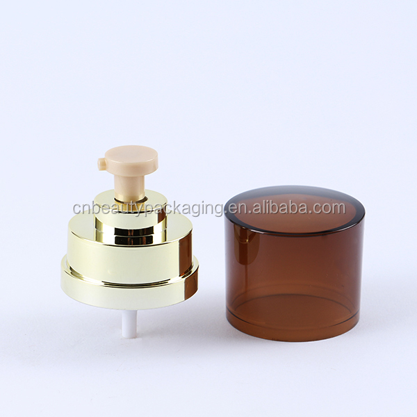 Cosmetic Aluminium Cream Pump With Dustcap for Powder